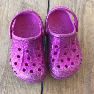 Other - Toddler pink sparkle Crocs